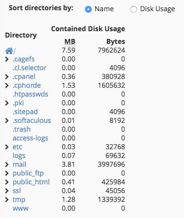 استخدام مساحة القرص Disk Space Usage