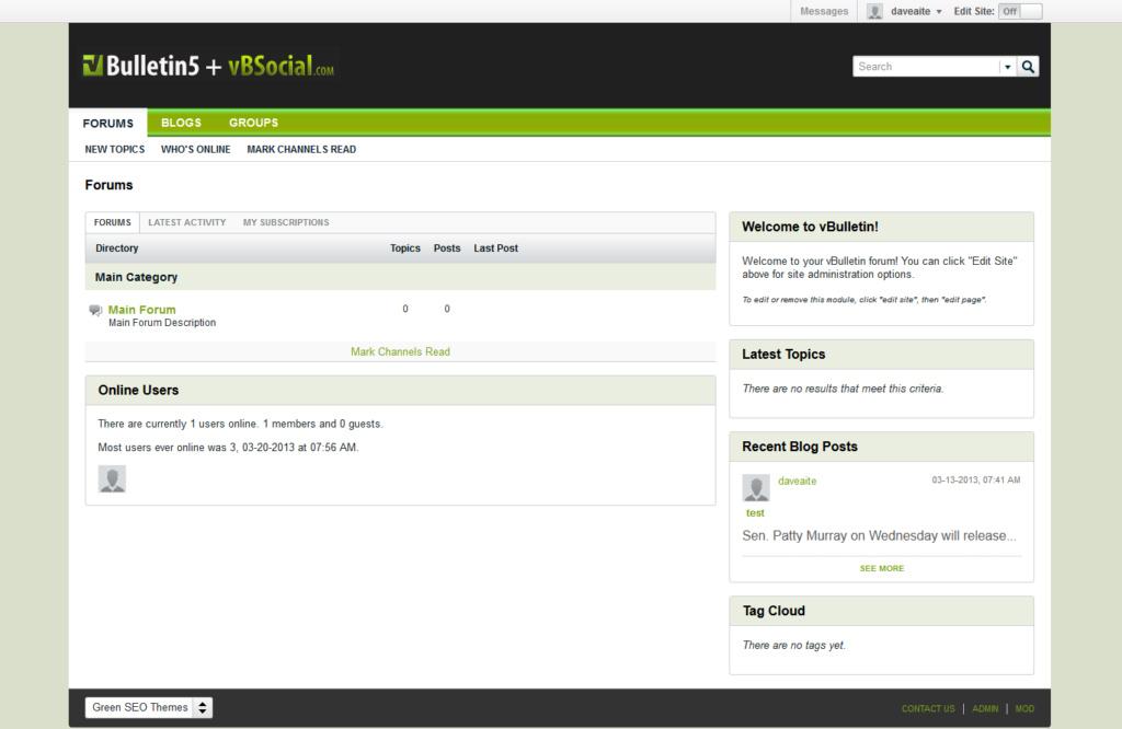 استايل vBSocial.com Green SEO Theme Lite (vBulletin 5 Theme)
