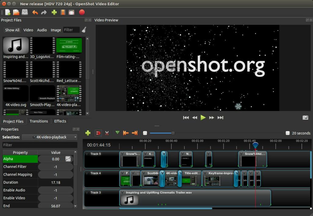 برنامج محرر الفيديو | Openshot